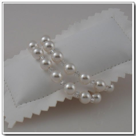 Double Crystal and Pearl Bracelet