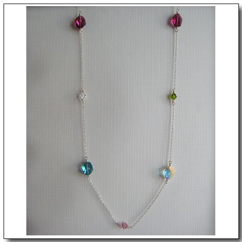 Rainbow Candy Opera Necklace