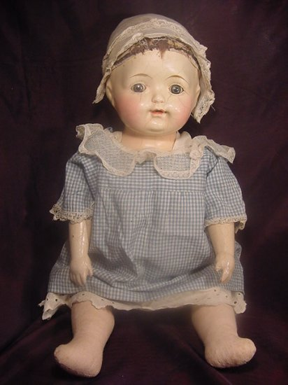 1918 Composition Cloth Effanbee Baby Doll Catherine Jointed Compo
