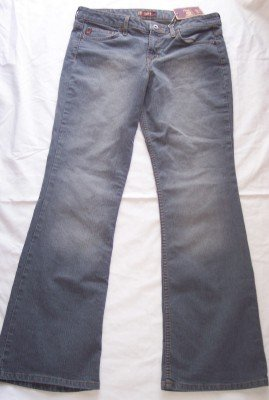 NWT LEI gray washed Stretch Lowboy lowrise jeans 13 12