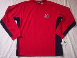 NEW Green Dog red & navy blue l/s long sleeve shirt L 16 18 $24