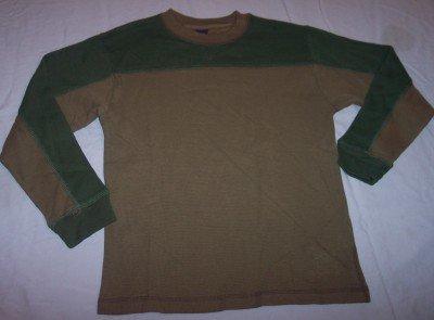 NEW Gap army green thermal long sleeve l/s shirt boys L 10