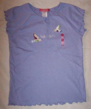 NWT Gymboree Romantic Garden lilac hummingbird shirt 10