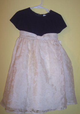 NWT Green Dog ivory & navy holiday twirly dress layered skirt SZ 4 4T $65