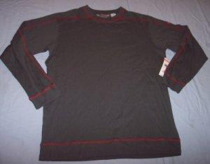 NWT Quiksilver charcoal gray long sleeve shirt guys XL 20 18