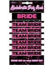 Bachelorette party bands - 1 bride & 6 team bride bands