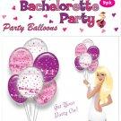Bachelorette party foil balloons - 9 pack