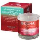 Dona Kissable Massage Candle - 4.75 oz Stawberry Souffle