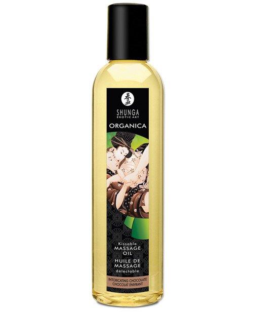 Shunga Organica Kissable Massage Oil - 8 oz Intoxicating Chocolate
