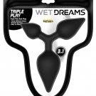 Wet Dreams Triple Play Anal Plug - Black