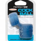 Perfect Fit SilaSkin Cock and Ball Ring - Blue