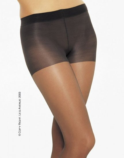 Leg Avenue Lycra low rise control top sheer pantyhose black one size