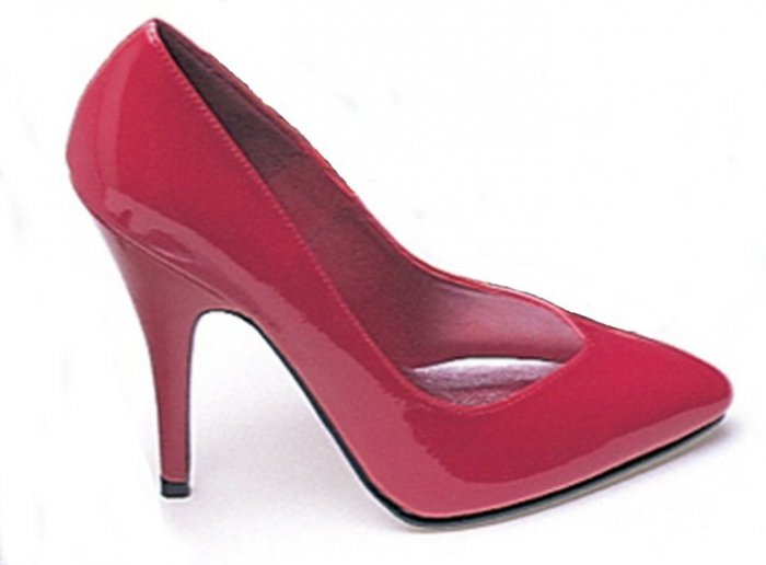 Ellie 8220 classic power pumps 5 inch stiletto high heels red patent size 9
