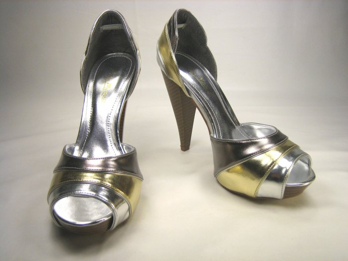 Anne Michelle open toe platform d'Orsay pumps high heels shoes size 7