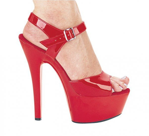 Red Shoes With  Inch Heels