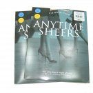 Lot 2 pair Charter Club anytime sheers pantyhose sand beige size A