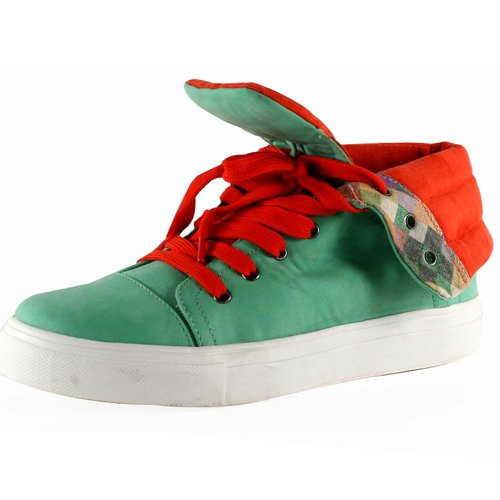 Kiss & Tell Lenci-03 high top faux leather fashion sneakers flats shoes mint size 6.5