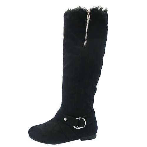 Diva lounge Starcy-34 soft light knee high boots faux suede black fur lined size 8.5
