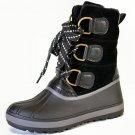 Bamboo Blizzard-1 women's pac duck fleece lined winter rain lug sole boots black size 6.5