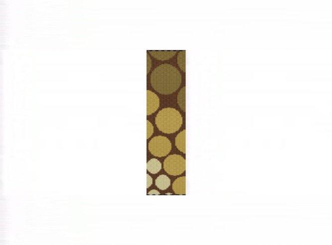 Progressive Gold Circles Bracelet - 3 Drop Odd Peyote Bead Pattern