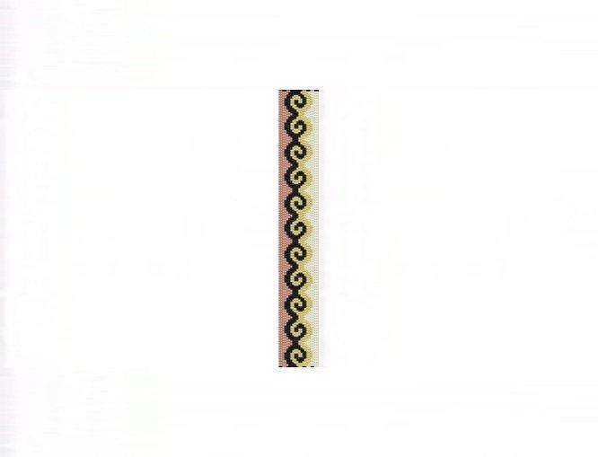 3E Tessellation #1 Thin Bracelet - 2 Drop Even Peyote Bead Pattern