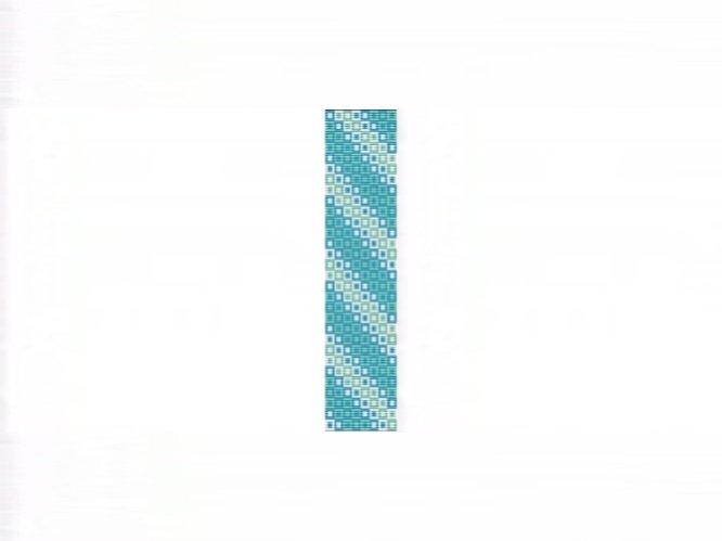 Oceans Squared Cuff Bracelet - Loom Bead Pattern
