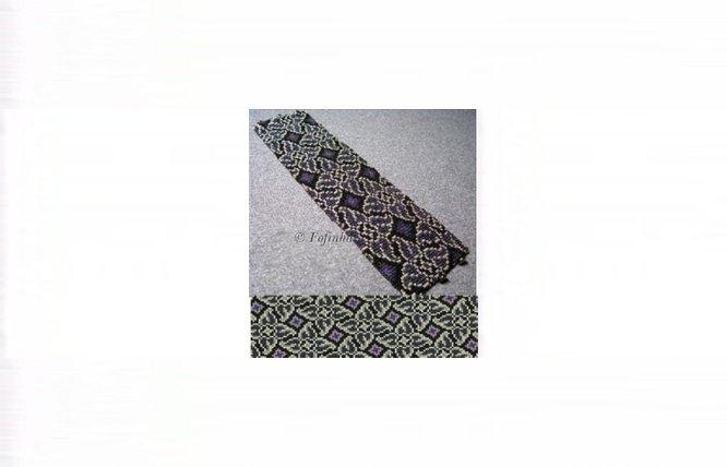 Whirlygigs #1 Cuff Bracelet  -  Loom Bead Pattern