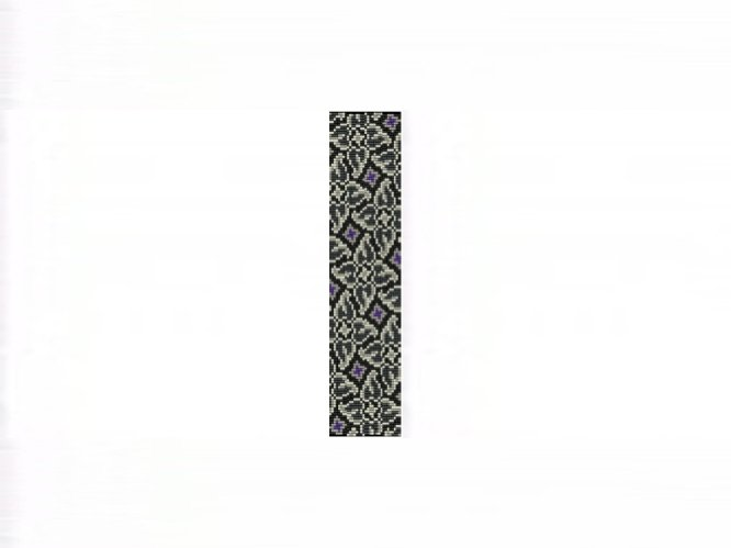 Whirlygigs #1 Cuff Bracelet - 8 Drop Even Count Peyote Bead Pattern