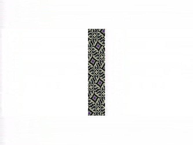 Whirlygigs #1 Thin Bracelet - Loom Bead Pattern