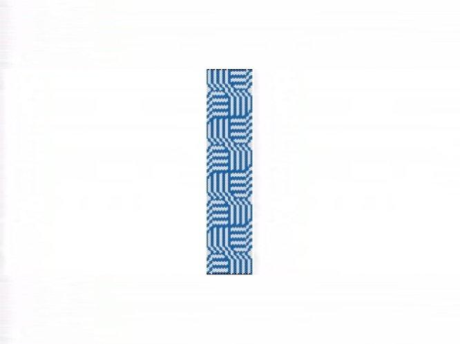 Celtic Knots Blue Cuff Bracelet -1 Drop Even Count Peyote Bead Pattern