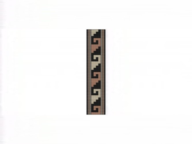 NA Rug #12 Cuff Bracelet - Loom Bead Pattern