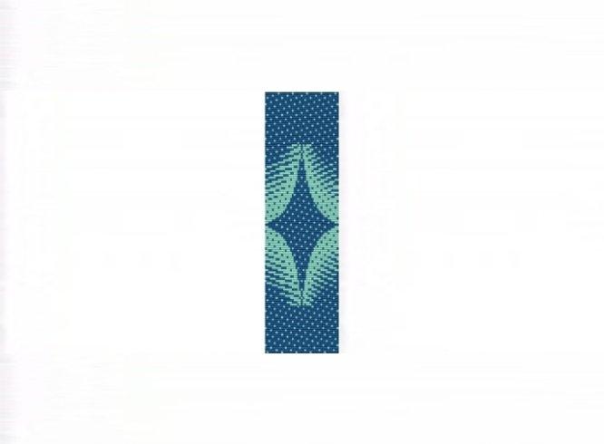Sea Star Cuff Bracelet - Loom Bead Pattern