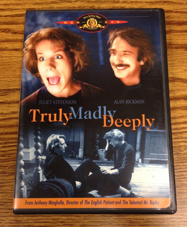 Truly, Madly, Deeply RARE OOP! Alan Rickman, Juliet Stevenson. w/ Insert! (DVD)