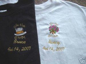 Personalized Bride Groom T-Shirts Set Honeymoon