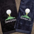 Personalized Mens Golf Ball Towel Dad Grandfather Groom