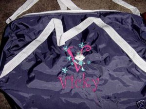 Personalized Girls Dance Ballerina Ballet  Duffle Bag