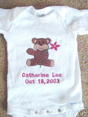 Personalized Infant Newborn Onesie Baby Girl  with name