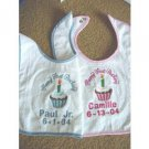 Personalized Baby's 1st Happy First Birthday Bib
