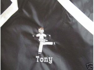 Personalized Karate Martial Arts Black Belt  Boy Bag