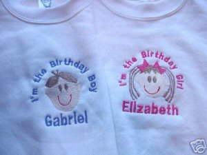 Personalized I'm the Birthday Boy Girl shirt W/Face