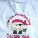 Personalized I'm the Birthday Boy/Girl Pirate Shirt