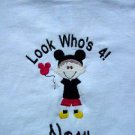 PERSONALIZED Mickey Mouse Birthday Look whos 2,3, shirt