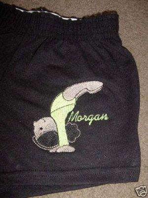 Personalized Gymnastics Gymnast Dance Dancer Shorts Y/S