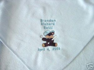 Personalized Newborn Baby Infant  Fleece Blanket Boy
