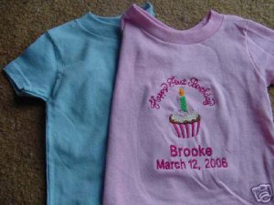 Personalized Happy First Birthday Party Shirt Boy Girl