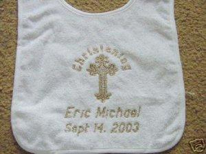 Personalized Baptism Christening Baby Keepsake Bib