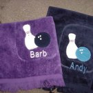 Personalized Mens LadiesTeam Bowling Towel Velour 11x18