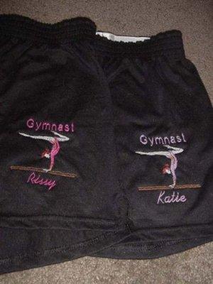 Personalized Gymnastics Gymnast Dance Dancer Shorts Y/L