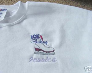 Personalized Ice Figure Skating Skate  Sweat Adult
