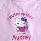 Personalized Girls Hello Kitty Birthday Shirt